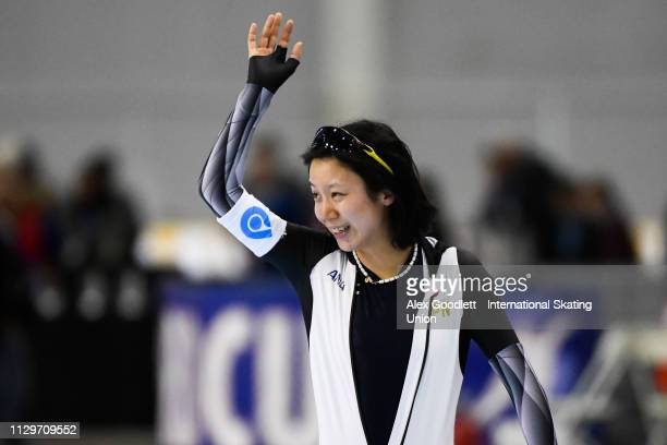 Miho Takagi of Japan competes in the women's 1500m duing the ISU World Cup Final at the Utah Olympic Oval on March 10 2019 in Salt Lake City Utah...