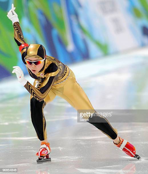 Miho Takagi of Japan competes in the women's speed skating 1000 m final on day 7 of the Vancouver 2010 Winter Olympics at Richmond Olympic Oval on...
