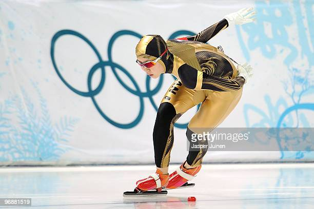 Miho Takagi of Japan competes in the women's speed skating 10000 m final on day 7 of the Vancouver 2010 Winter Olympics at Richmond Olympic Oval on...
