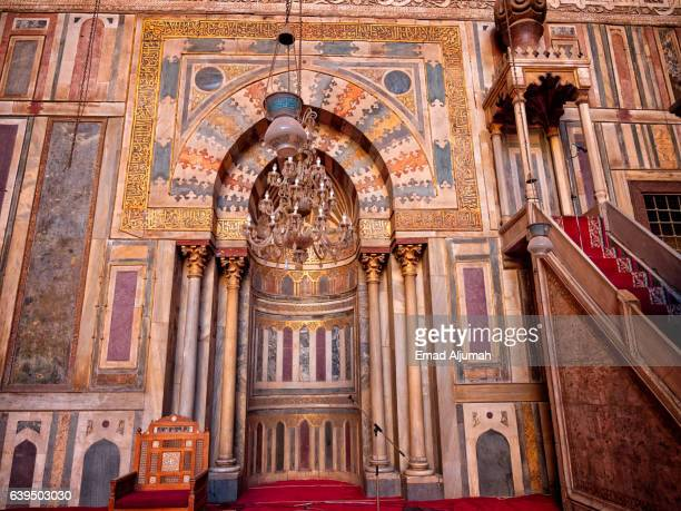 Mihrab and Minbar of Sultan Hassan Mosque and Madrasa, Cairo, Al Qahirah, Egypt
