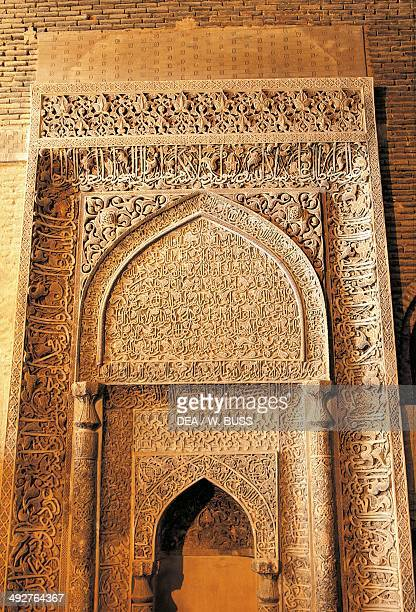 Mihrab in the Friday Mosque or Masjed-e Jame , Isfahan, Iran.