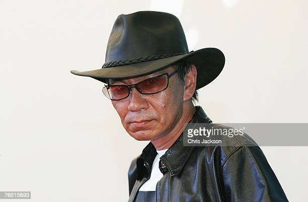 Miike Takashi attends the Sukiyaki Westerm Django photocall in Venice during day 8 of the 64th Venice Film Festival on September 5 2007 in Venice...