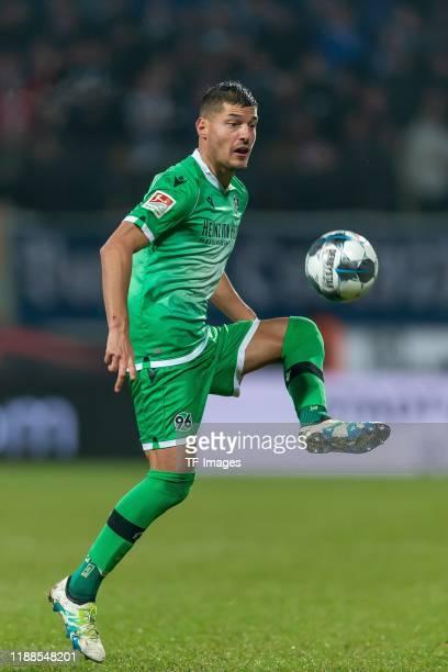 Miiko Albornoz of Hannover 96 controls the ball during the Bundesliga match between VfL Bochum 1848 and Hannover 96 at Vonovia Ruhrstadion on...