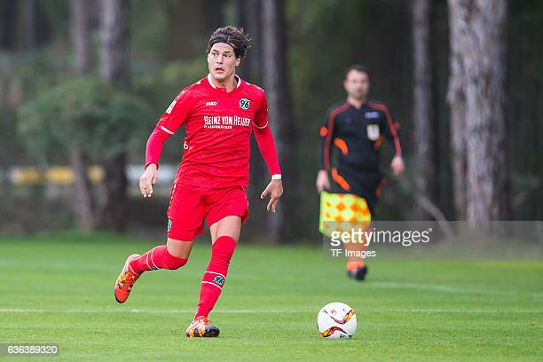 Miiko Albornoz of Hannover 96 in action during the Friendly Match between Hannover 96 and Gostaresh Foolad FC at training camp on January 13, 2016 in...