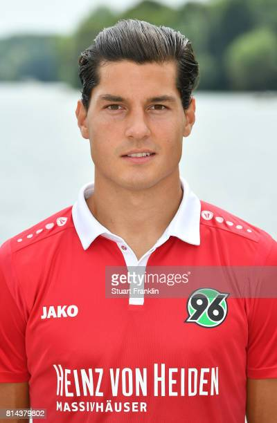 Miiko Albornoz of Hannover 96 poses during the team presentation at on July 14 2017 in Hanover Germany