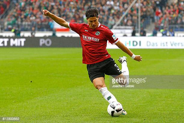 Miiko Albornoz of Hannover during the Second Bundesliga match between Hannover 96 and FC St. Pauli at HDI-Arena on October 1, 2016 in Hanover,...