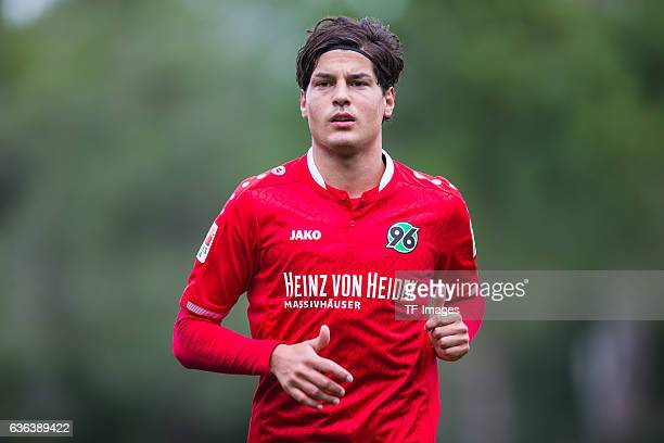 MiikoAlbornoz of Hannover 96 looks on during the Friendly Match between Hannover 96 and Gostaresh Foolad FC at training camp on January 13, 2016 in...