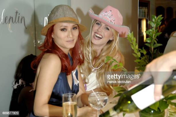 "Mija and Serene Aandahl attend Sofia's ""Hair for Health"" Annual Party at the Rodolfo Valentin Salon and Spa on October 11 2009 in New York City"
