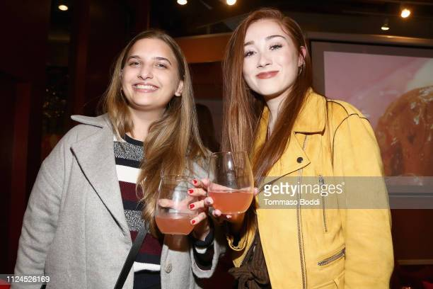 Mijal Tenenbaum and Lily Rose attend Jordan Kimball Puts A Sweet Spin On Valentine's Day With BaskinRobbins at Kim Sing Theatre on February 12 2019...
