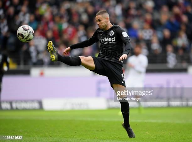 Mijat Gacinovic of Frankfurt controls the ball during the Bundesliga match between Eintracht Frankfurt and 1 FC Nuernberg at CommerzbankArena on...