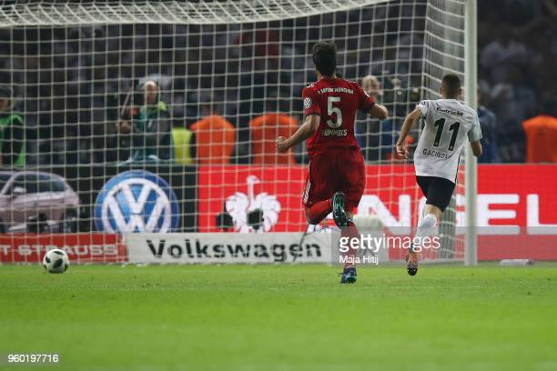 Mijat Gacinovic of Frankfurt scores a goal to make it 13 during the DFB Cup final between Bayern Muenchen and Eintracht Frankfurt at Olympiastadion...