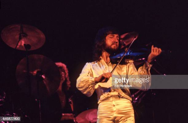 Mik Kaminski performs with Electric Light Orchestra at the Oakland Coliseum in Oakland California on August 23 1978