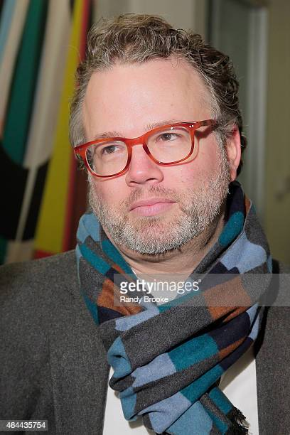 Mik Moore attends FilmRise Celebrates new office in Industry City Brooklyn at FilmRise on February 25 2015 in Brooklyn New York
