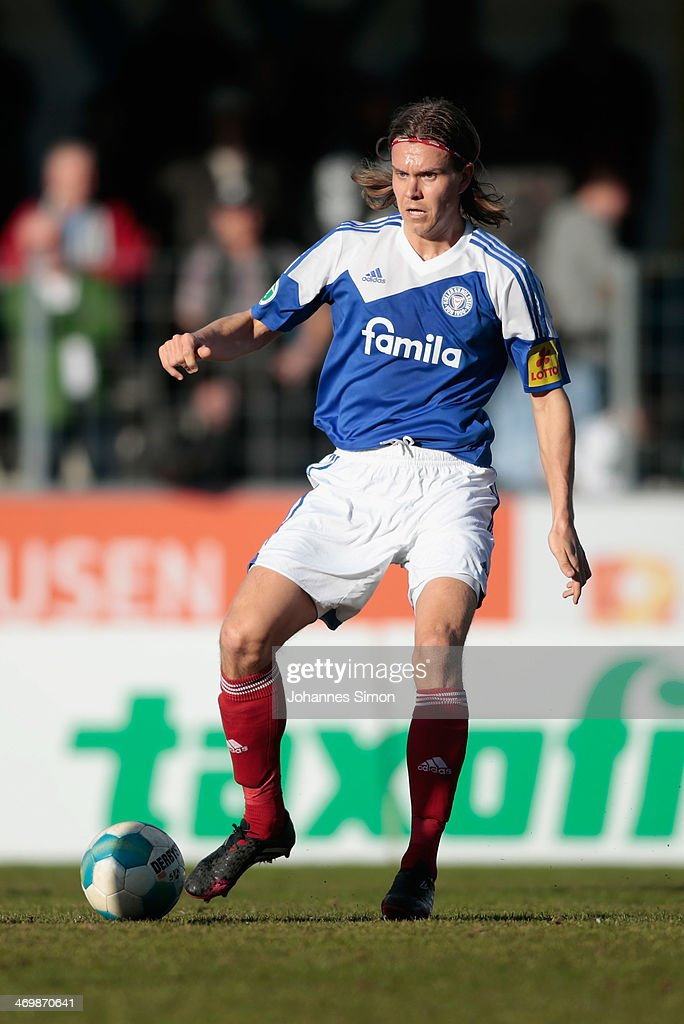 Mika Aaritalo of Kiel in action during the Third League match ...