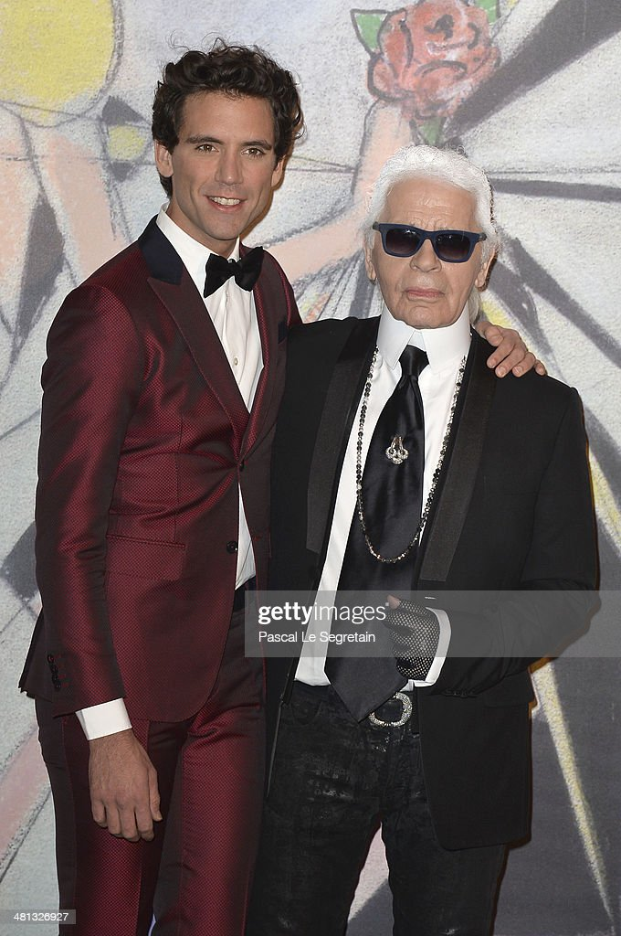 Mika and Karl Lagerfeld attend the Rose Ball 2014 in aid of the Princess Grace Foundation at Sporting Monte-Carlo on March 29, 2014 in Monte-Carlo, Monaco.