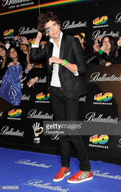 Mika arrives at the ''40 Principales'' Awards at the Palacio de Deportes on December 11, 2009 in Madrid, Spain.