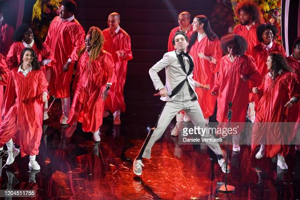 Mika attends the 70° Festival di Sanremo at Teatro Ariston on February 06, 2020 in Sanremo, Italy.