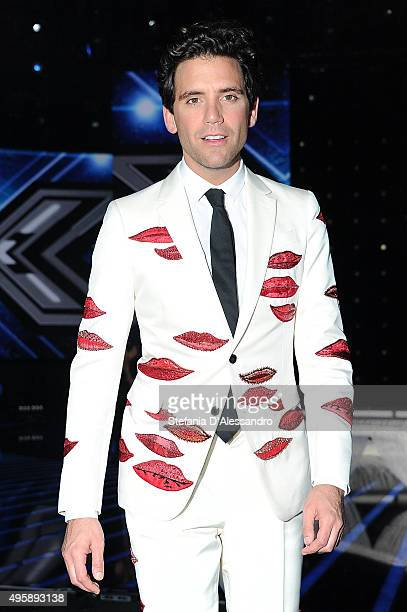 Mika attends 'X Factor' Tv Show on November 5 2015 in Milan Italy