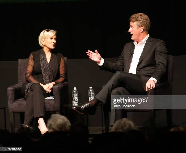 Mika Brzezinki and Joe Scarborough speak on stage at the 2018 New Yorker Festival MSNBC Hosts Joe Scarborough And Mika Brzezinski In Conversation...