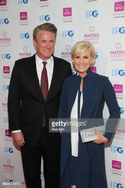 Mika Brzezinksi and Joe Scarborough attend the 2018 Matrix Awards at Sheraton Times Square on April 23 2018 in New York City