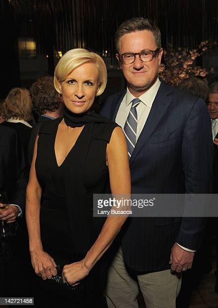 Mika Brzezinski and Joe Scarborough attend the Hollywood Reporter celebration of 'The 35 Most Powerful People in Media' at the Four Season Grill Room...