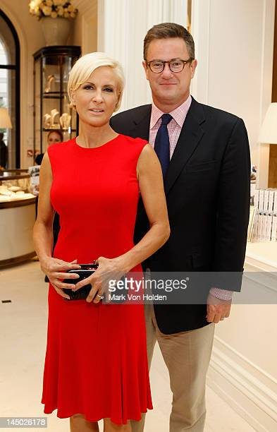 Mika Brzezinski and Joe Scarborough attend the Ralph Lauren celebration for the publication of 'The Hamptons Food Family and History' by Ricky Lauren...