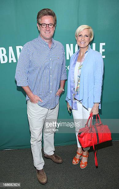 Mika Brzezinski and Joe Scarborough host of Morning Joe on MSNBC promote her new book 'Obsessed The Fight Against America's Food Addiction' at Barnes...