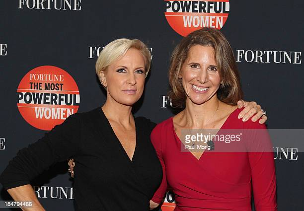 Mika Brzezinski and Leigh Gallagher attend the FORTUNE Most Powerful Women Summit on October 16 2013 in Washington DC