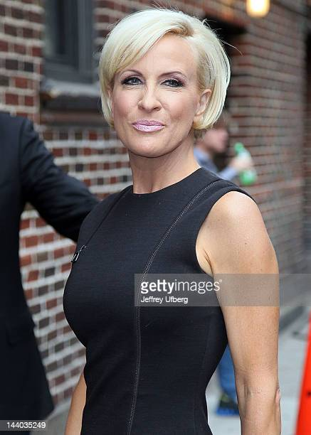 Mika Brzezinski arrives to 'Late Show with David Letterman' at Ed Sullivan Theater on May 8 2012 in New York City