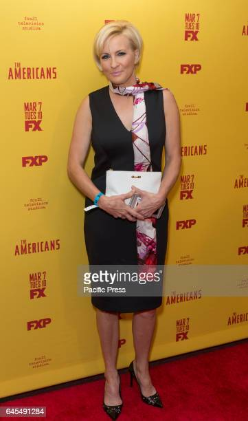 Mika Brzezinski attends FX The Americans Season 5 premiere at DGA Theater in New York