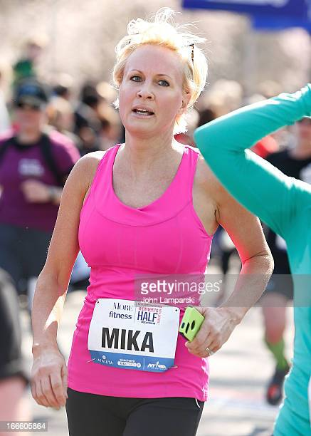 Mika Brzezinski attends the 10th Annual More Magazine/Fitness Magazine's Women's HalfMarathon at Central Park on April 14 2013 in New York City