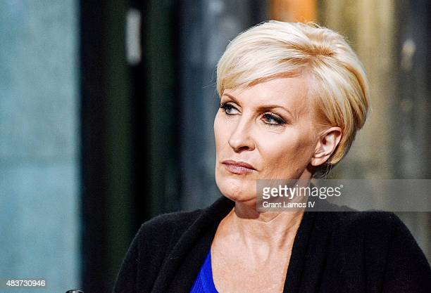 Mika Brzezinski attends the AOL Build Presents Plenty Ladylike at AOL Studios in New York on August 12 2015 in New York City