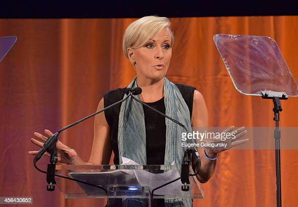 Mika Brzezinski speaks at the 25th Anniversary Adweek Brand Genius Gala at Cipriani 25 Broadway on September 30 2014 in New York City