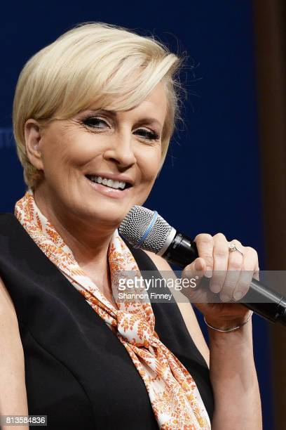 Mika Brzezinski takes part in 'The David Rubenstein Show PeerToPeer Conversations'at The National Archives on July 12 2017 in Washington DC