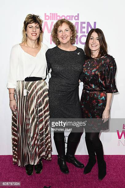 Mika ElBaz Julie Swidler and Nancy Marcus Seklir attend the Billboard Women in Music 2016 event on December 9 2016 in New York City
