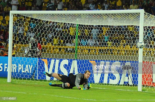 Mika from Portugal in action durging the penalty shoot out the match between Argentina and Portugal as part of the U20 World Cup Colombia 2011 at...