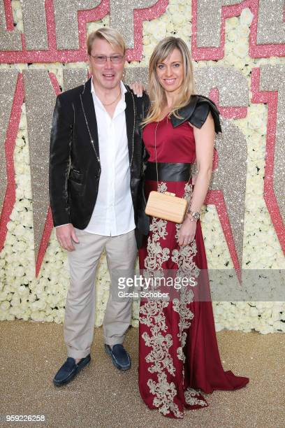 Mika Hakkinen and Marketa Remesovan attend Philipp Plein Dynasty Women's Men's Resort 2019 Fashion Show during the 71st annual Cannes Film Festival...