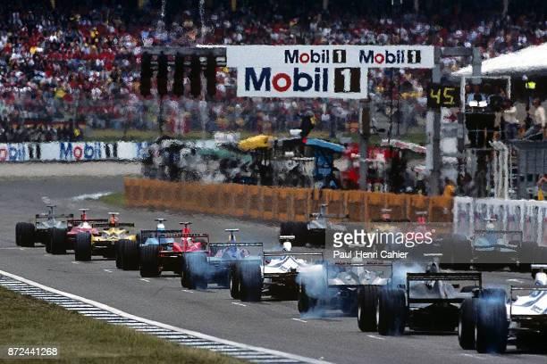 Mika Hakkinen David Coulthard Jacques Villeneuve Ralf Schumacher Damon Hill McLarenMercedes MP4/13 WilliamsMecachrom FW20 JordanMugenHonda 198 Grand...