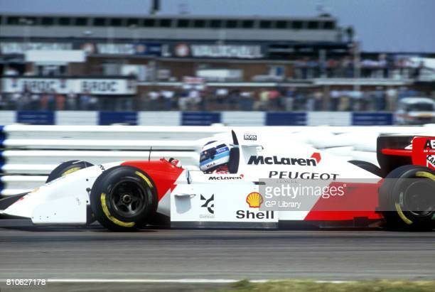 Mika Hakkinen driving a McLaren MP4/9 at Silverstone British GP 3rd
