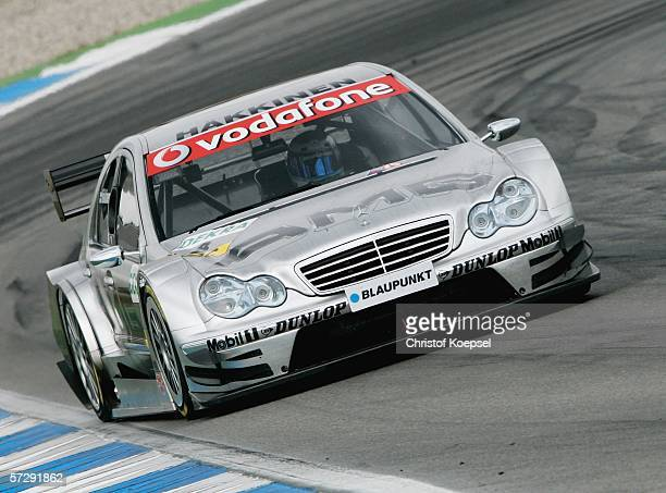 Mika Hakkinen on AMGMercedes drives during the DTM 2006 German Touring Car Championship at the Hockenheim Circuit on April 9 2006 in Hockenheim...