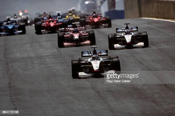 Mika Häkkinen, David Coulthard, Heinz-Harald Frentzen, Michael Schumacher, Eddie Irvine, McLaren-Mercedes MP4/13, Williams-Mecachrome FW20, Ferrari...
