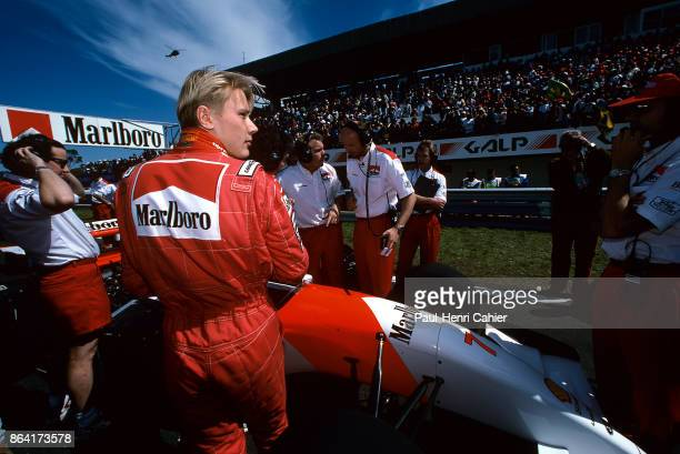 Mika Häkkinen, McLaren-Ford MP4/8, Grand Prix of Portugal, Autodromo do Estoril, 26 September 1993. Mika Häkkinen on the starting grid of the 1993...