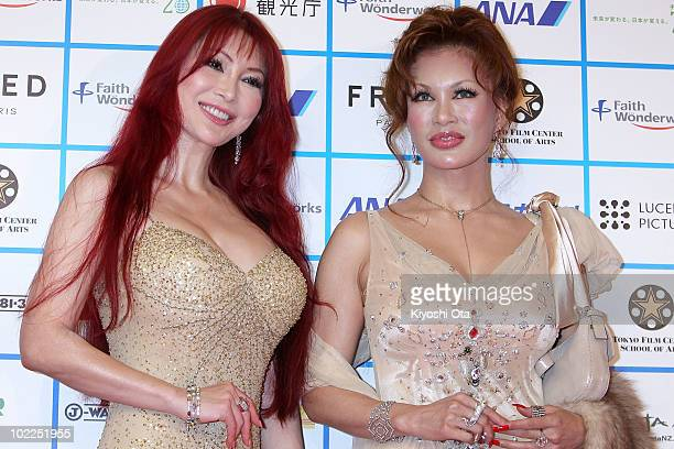 Mika Kano and Kyoko Kano pose on the red carpet during the Short Shorts Film Festival Asia 2010 Award Ceremony at Jingu Kaikan on June 20 2010 in...