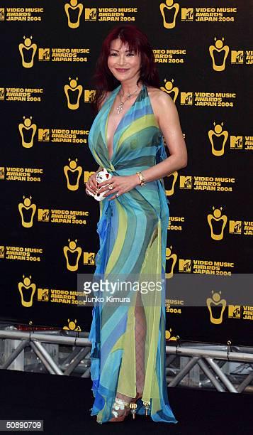 Mika Kano arrives at the MTV Video Music Awards Japan 2004 on May 23 2004 in Tokyo Japan