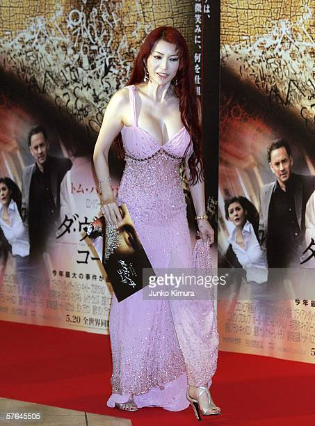 Mika Kanou arrives at the Japanese Premiere of 'The Da Vinci Code' on May 18 2006 in Tokyo Japan The film directed by Ron Howard will open on May 20...