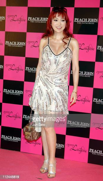Mika Kanou during Very Lingerie Week - Premium Party by Peach John Featuring Dita Von Teese - Arrivals at Kasumigaoka National Stadium in Tokyo,...