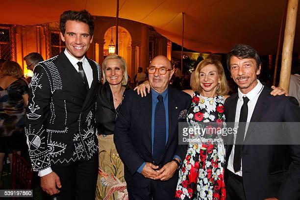 Mika Maria Grazia Chiuri Dante Ferretti Francesca Lo Schiavo and Pierpaolo Piccioli attend McKim Medal Gala In Rome at Villa Aurelia on June 9 2016...