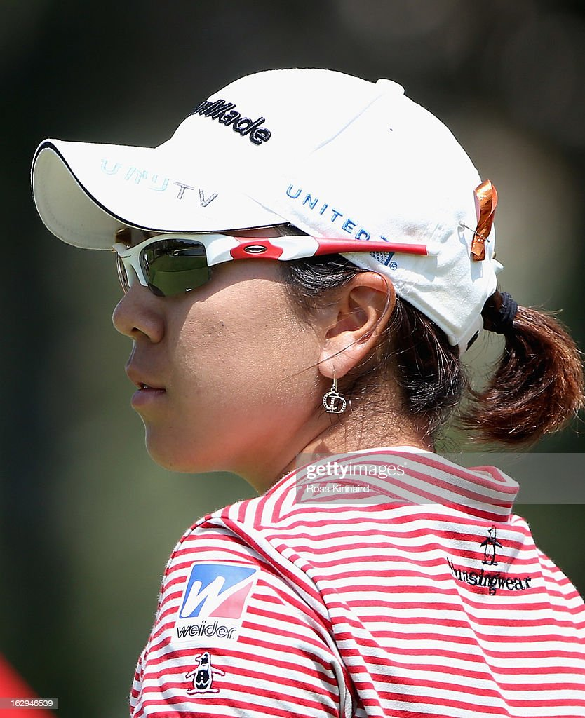 Mika Miyazato of Japan during the third round of the HSBC Women's Champions at the Sentosa Golf Club on March 2, 2013 in Singapore, Singapore.