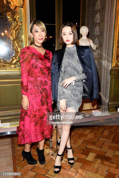 Mika Ninagawa and Tina Tamashiro attend the 'Giambattista Valli Loves HM' Show on October 24 2019 in Rome Italy