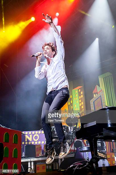 Mika performs on stage at Arenal Sound on August 2 2015 in Burriana Spain